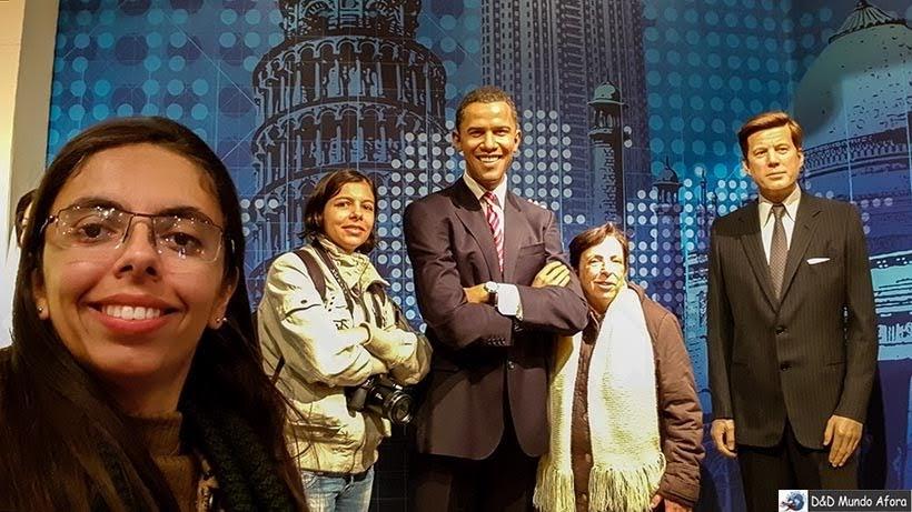 Obama e John Kennedy - Madame Tussauds: Como visitar o museu de cera de Londres