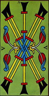 cinq de bâton à l'envers