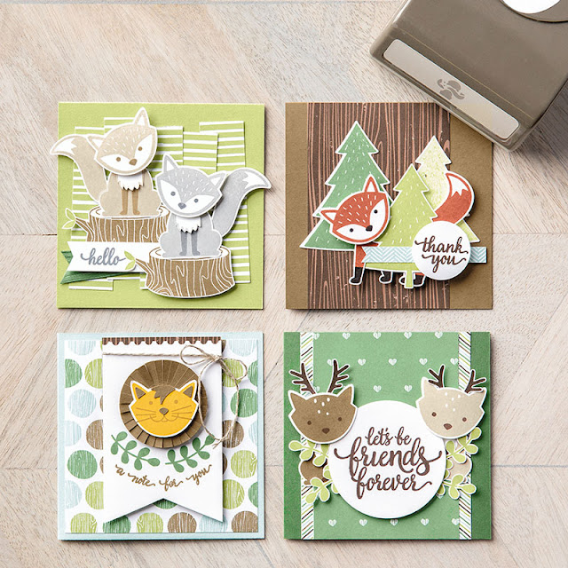 Use this fabulous Fox Builder Punch by Stampin' Up! to create gorgeous cards and home decor projects