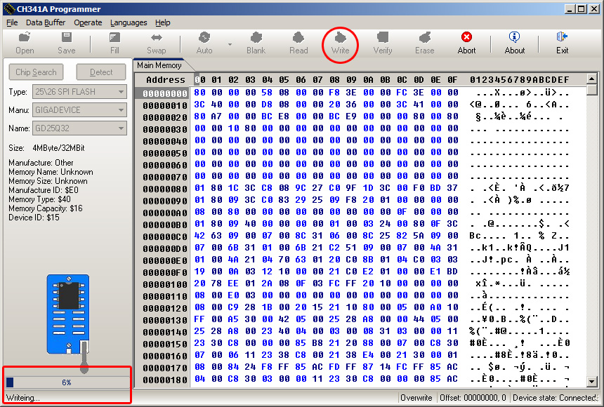Cara Flash IC Eeprom SPI dengan USB Programmer CH341A Series