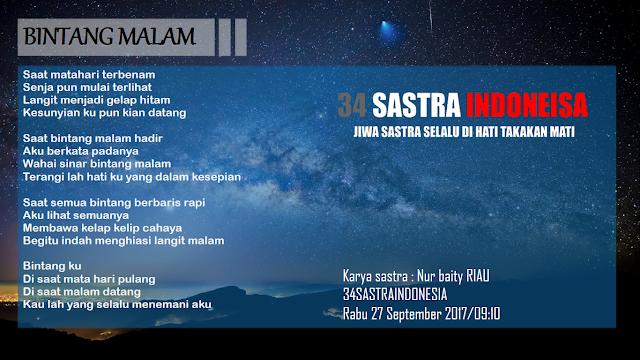 Puisi alam terbaru BINTANG MALAM | 34 Sastra Indonesia
