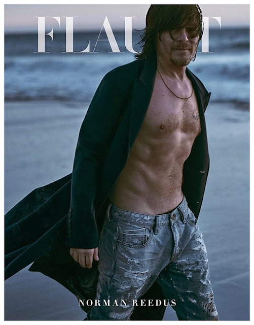 Prada ad Norman Reedus shirtless on beach