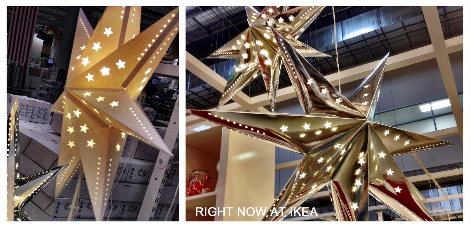 Brigitte Oberlander Home Stylist Ikea Star Lights Are