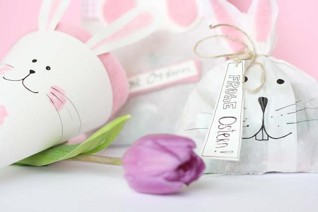 Ostergeschenke kreativ verpacken - Hasen