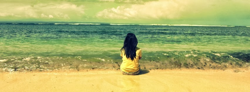 Lonely Girl At Beach Facebook Cover | Facebook Covers, FB ...
