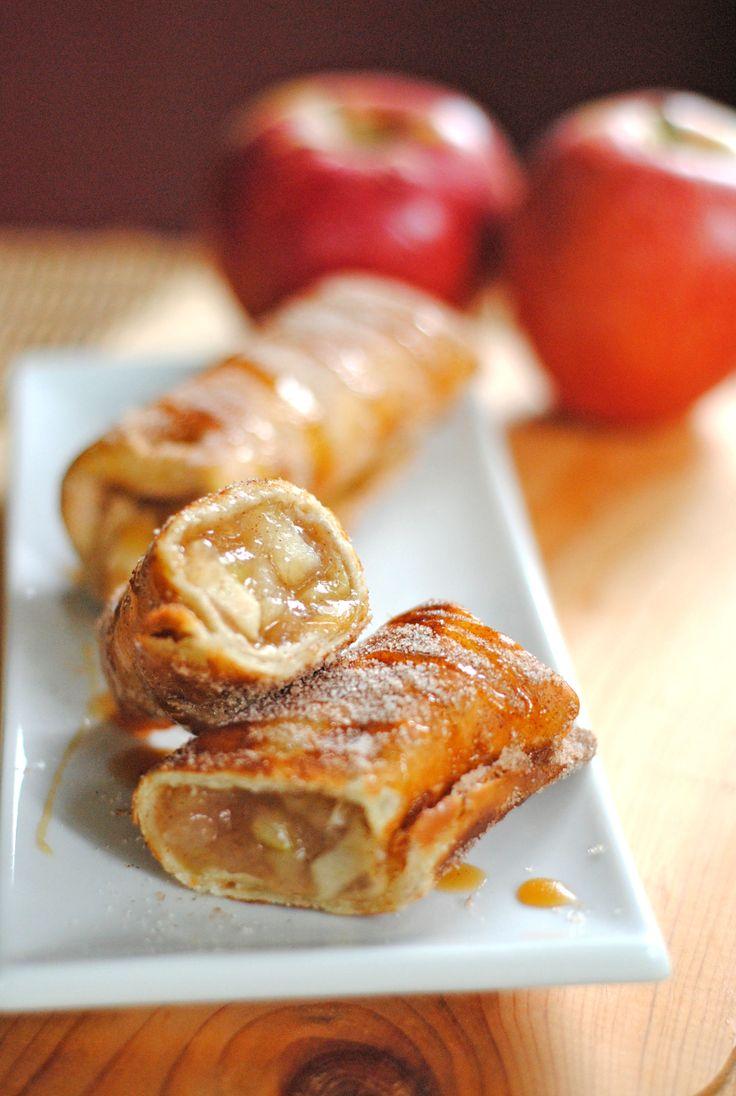 apple cinnamon dessert chimichangas