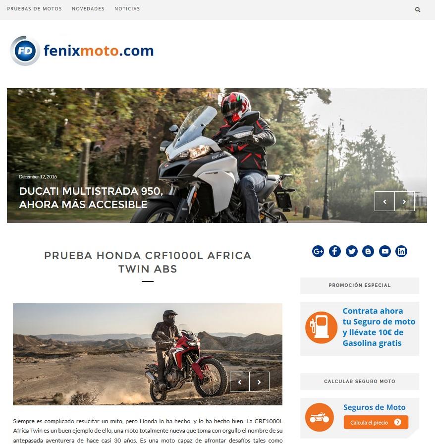 9293679f83b Fénix Directo crea un nuevo blog para los apasionados de las dos ruedas