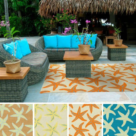 Outdoor Starfish Rugs