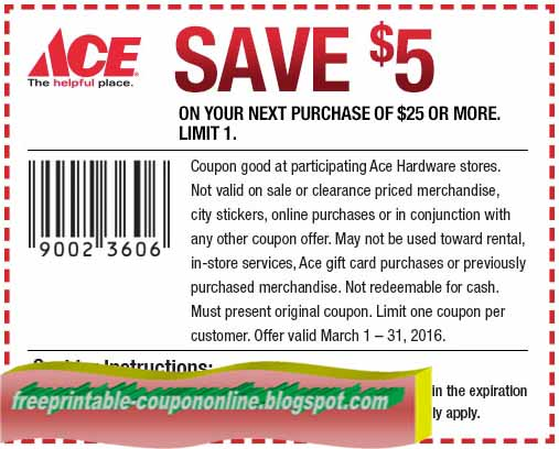 Ace hardware coupon 2018