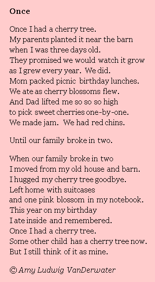 The Poem Farm: Wallow in Wonder Day 18 (Poems Can Be Sad) - Once