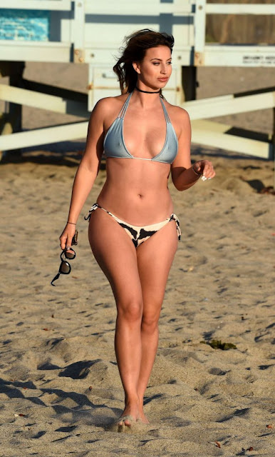 Ferne McCann in Bikini on the beach in Los Angeles