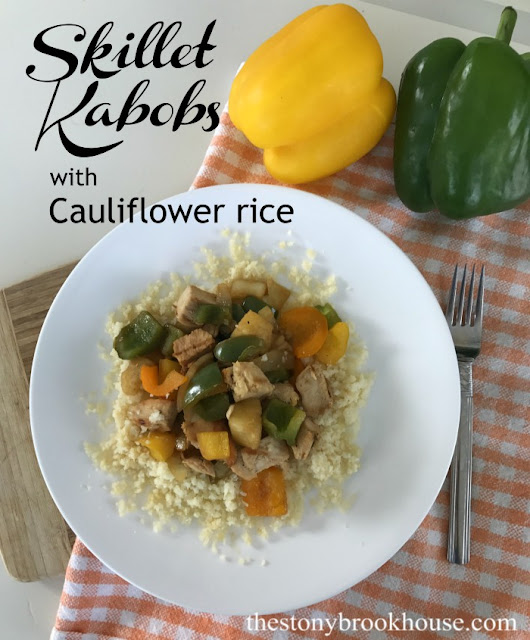 Skillet Kabobs With Cauliflower Rice