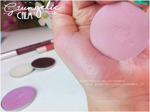 CALM swatches  Blush  Grungelic collection Neve cosmetics  recensione, pareri, makeup, consigli, comparazioni