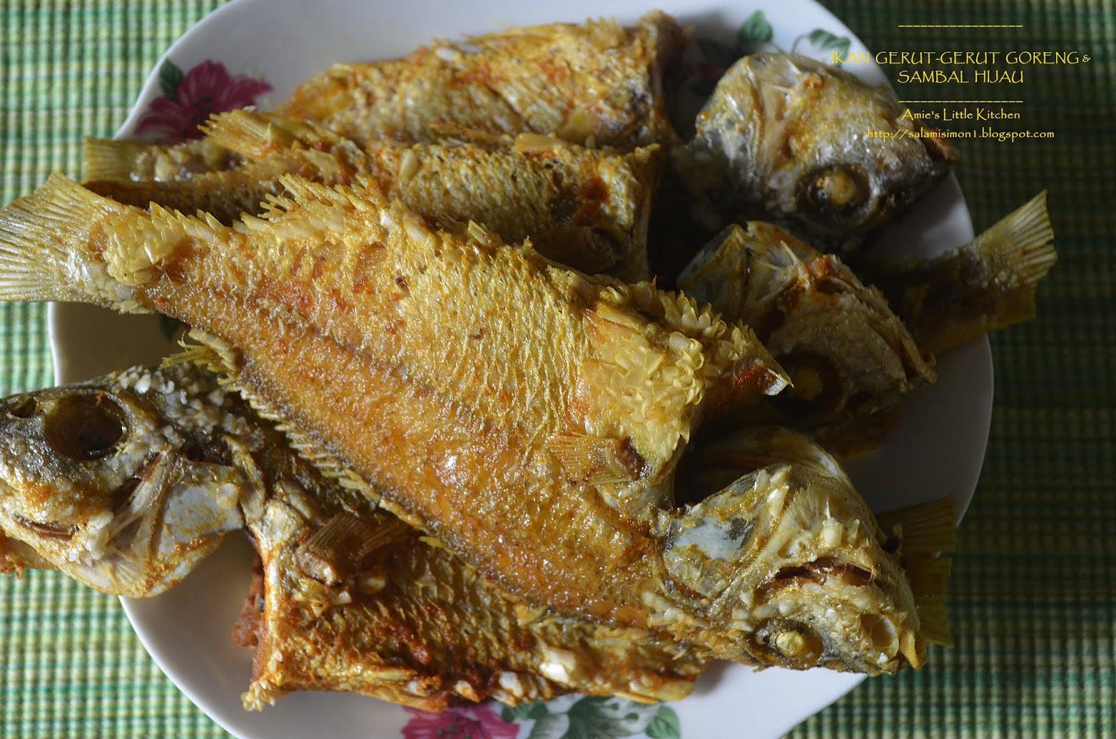 Amie S Little Kitchen Ikan Gerut Gerut Goreng Sambal Hijau Peria Tumis Dengan Udang