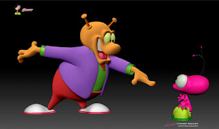 """BLiP"" - Orbit - ""Astro Sale (Scene #9)"" - Character design, 3D model & concept art © Pierre Rouzier"