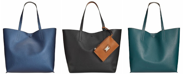 Style & Co Clean Cut Reversible Tote with Wristlet $25 (reg $89)