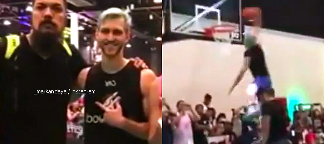 Jordan Kilganon Dunks Over Mark Andaya (VIDEO)