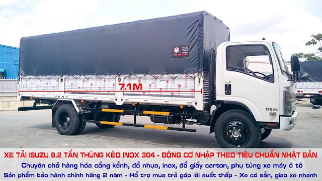 Xe fn129 8.2 tấn thùng kèo mui bạt