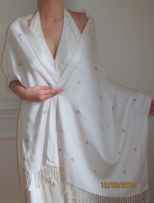 Cashmere Pashmina Bridal Wedding & Bridesmaids Shawls ...