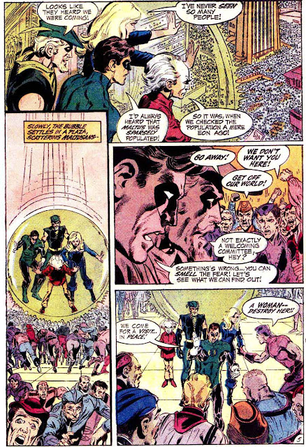 Green Lantern Green Arrow #81 dc comic book page art by Neal Adams
