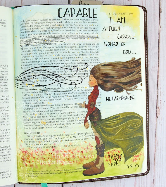 Heather's Hobbie Haven - Bible Journaling - 2 Timothy 3:16-17