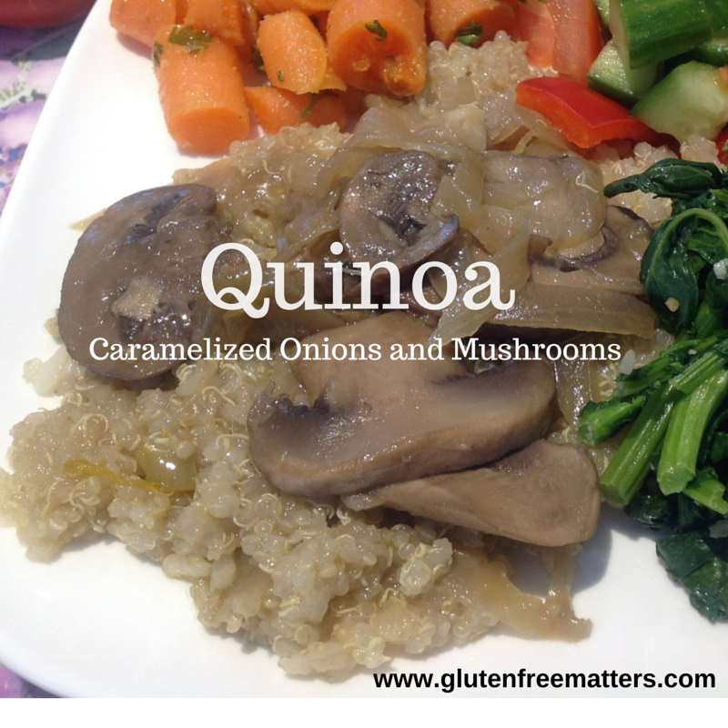 cooked quinoa platter with vegetables