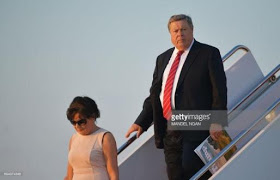 Melania Trump's parents visit their daughter in the White House and everyone is saying Trump bears a resemblance to Melania's father