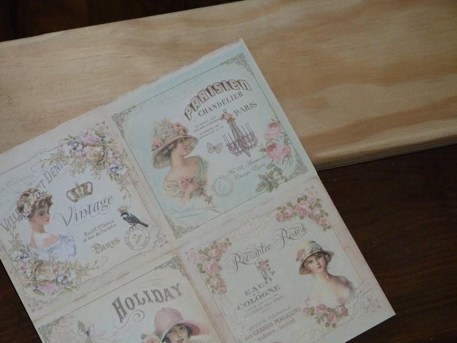 isabelvintage-vintage-perchero-tabla-madera-papel scrap, aguaplast