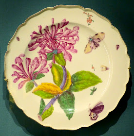Circular plate c1755 from the Chelsea Porcelain Works