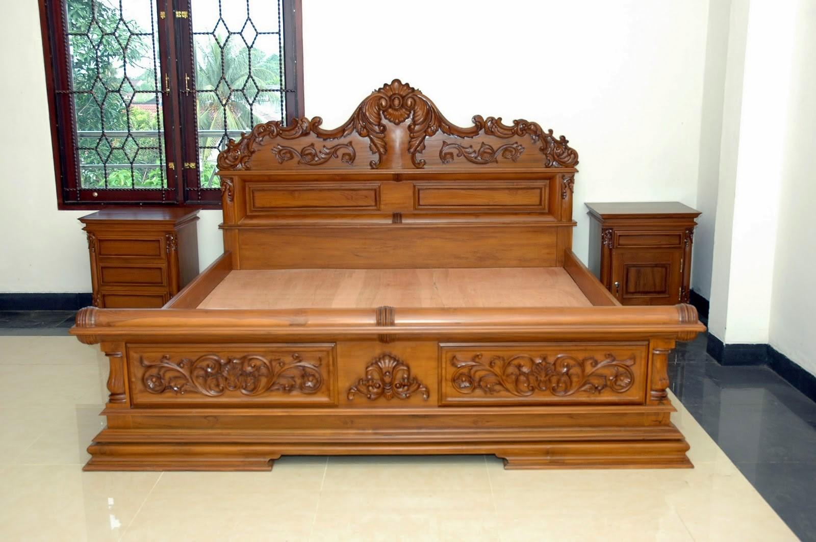 model tempat tidur ukir minimalis 4