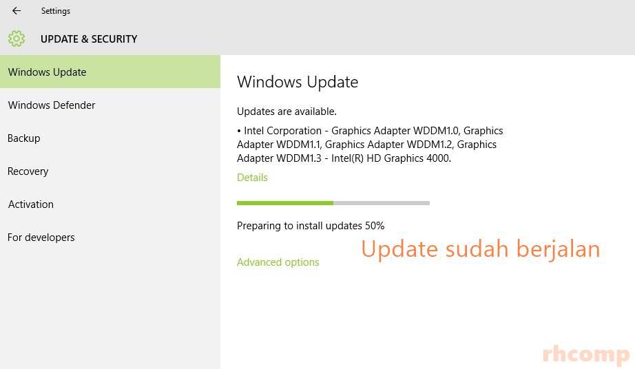 Cara Mengatasi Windows Update yang nyangkut Pada Windows 10