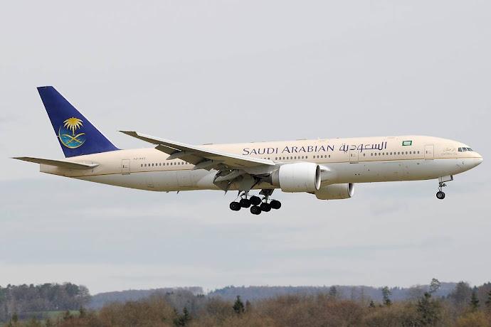 avion de la aerolinea Saudia Airlines