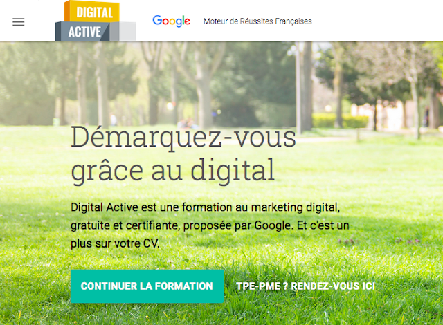 Transformation digitale avec google certification digital active