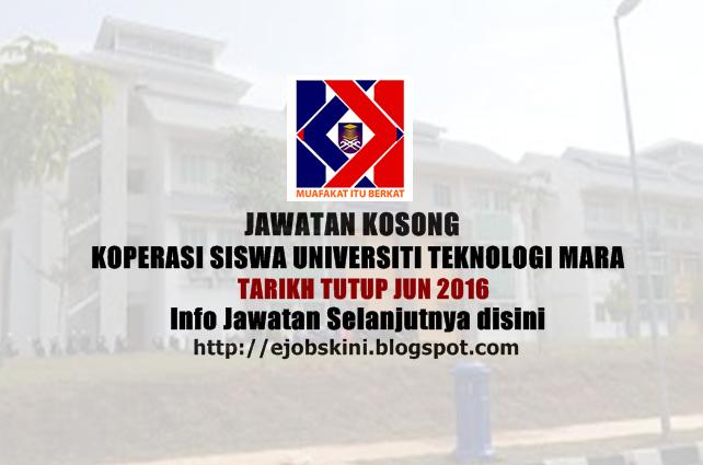 Jawatan Kosong Koperasi Siswa Universiti Teknologi MARA