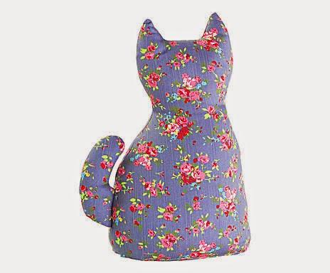 peso de porta em forma de gatinho