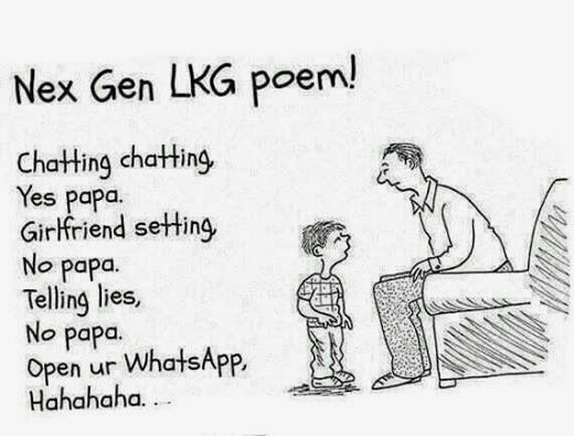 A Daily Joke: Chatting Chatting Yes Papa, News Poem of 2014