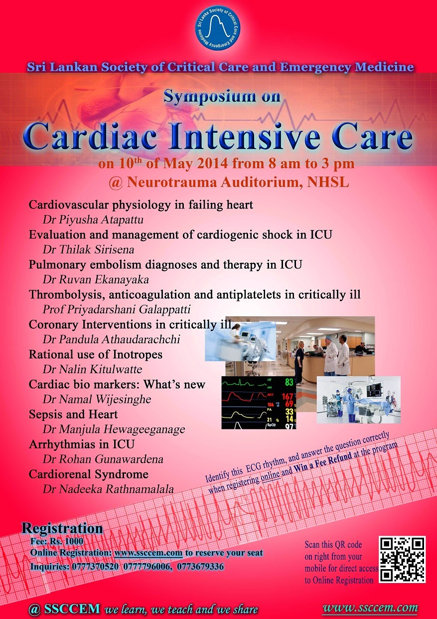 CME Programme by SSCCEM: Symposium on Cardiac Intensive Care