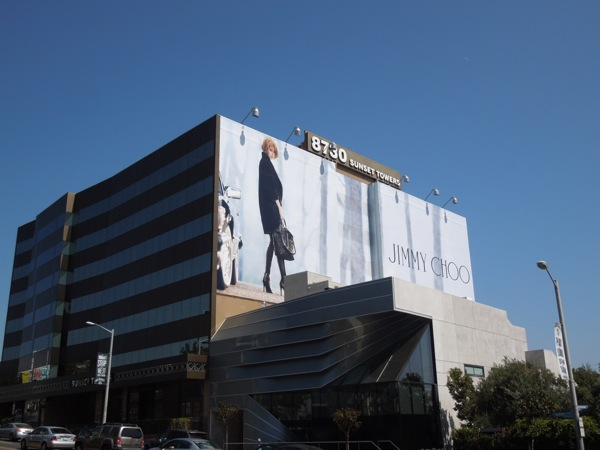 Giant Nicole Kidman Jimmy Choo billboard Sunset Strip