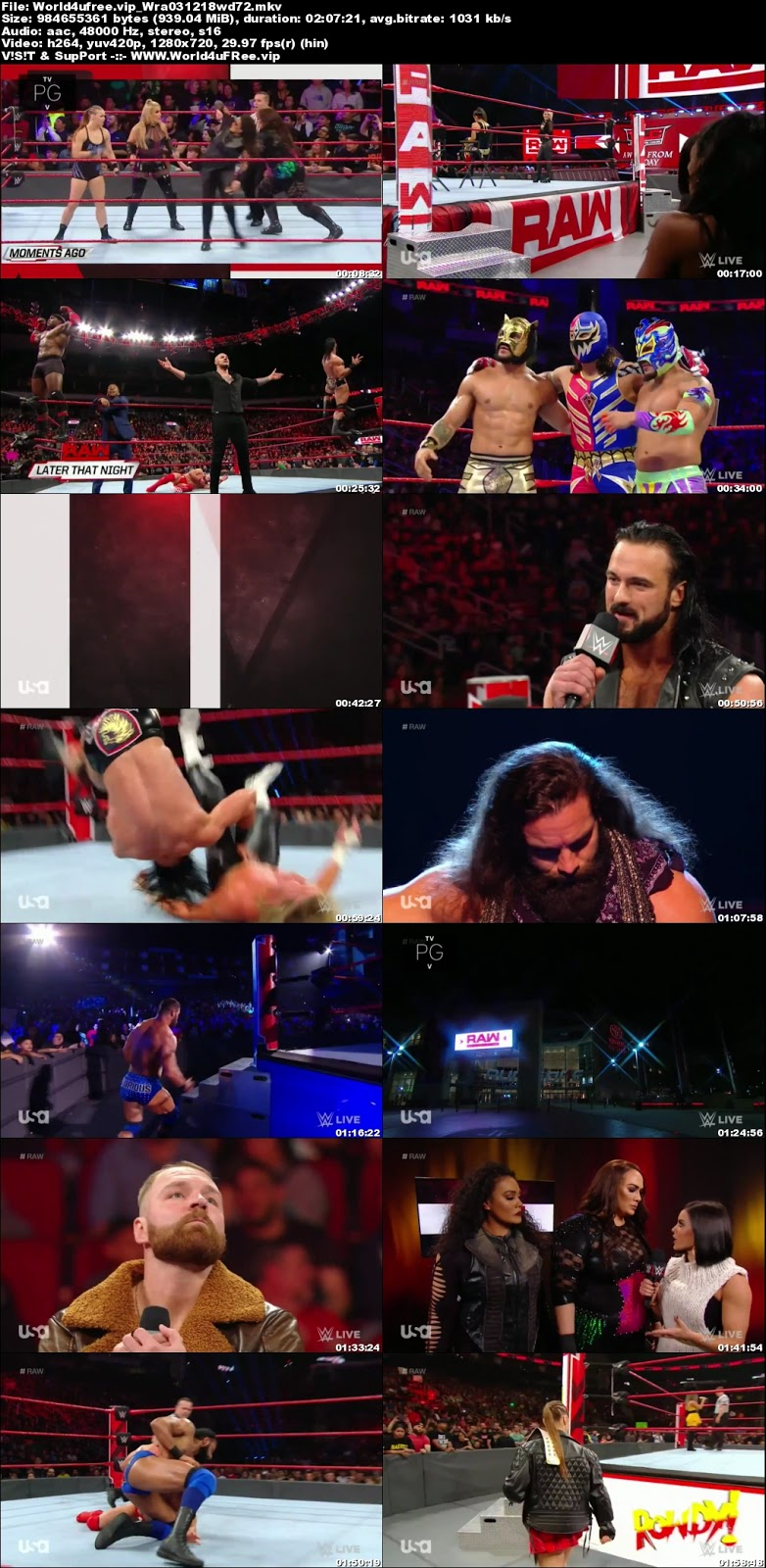 WWE Monday Night RAW 03 DECEMBER 2018 720p HDTV 1Gb x264world4ufree.fun tv show wwe monday night raw wwe show monday night raw compressed small size free download or watch onlne at world4ufree.fun