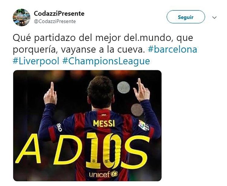 Meme Vignette Divertenti eliminazione Barcellona a Liverpool Foto 7.