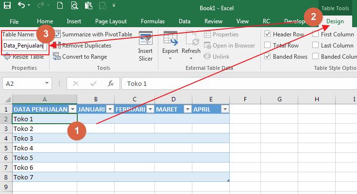 Cara Membuat & Menggunakan Tabel Di Microsoft Excel