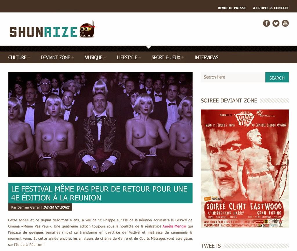 Festival MEME PAS PEUR 2014 dans Shunrize