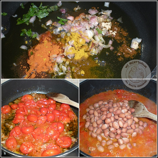Curry di fagioli con riso