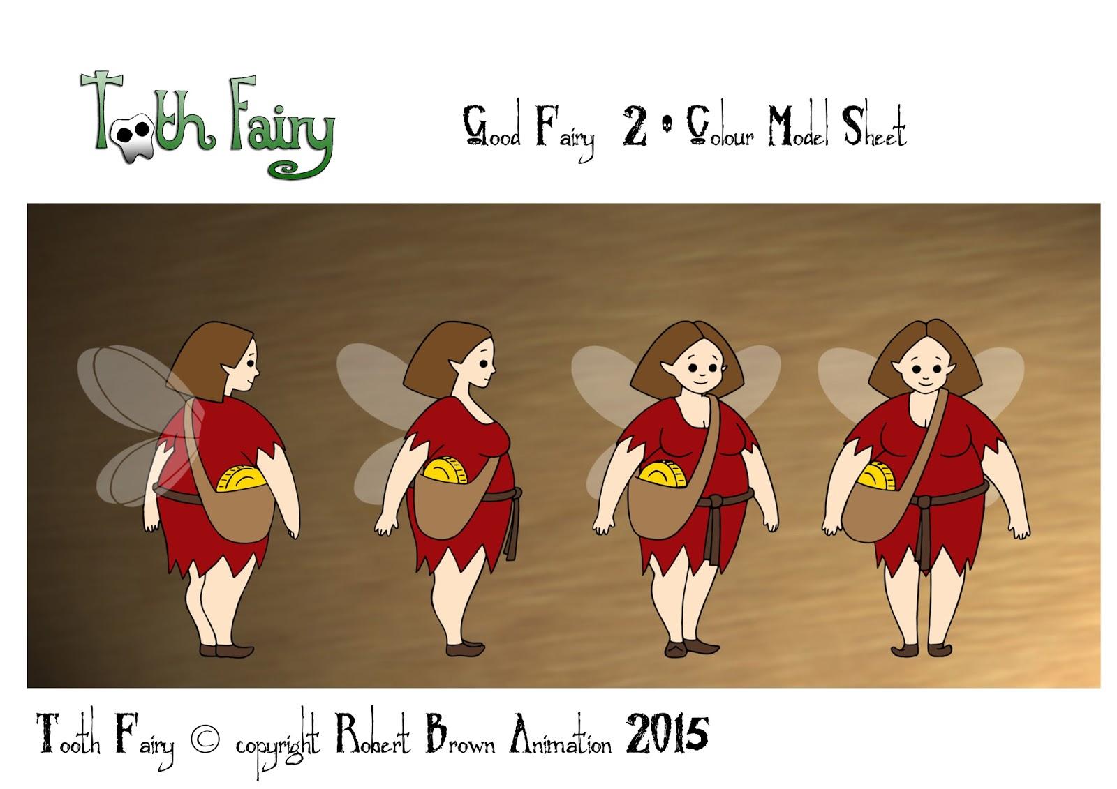 robert brown animation u0027tooth fairy u0027 character model sheets