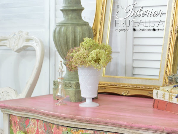 How One Napkin Transformed A Serpentine Dresser