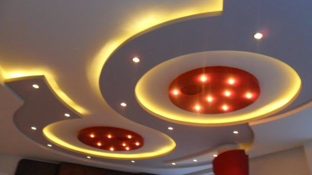 Top catalog of gypsum board false ceiling designs 2018 for Model faux plafond platre