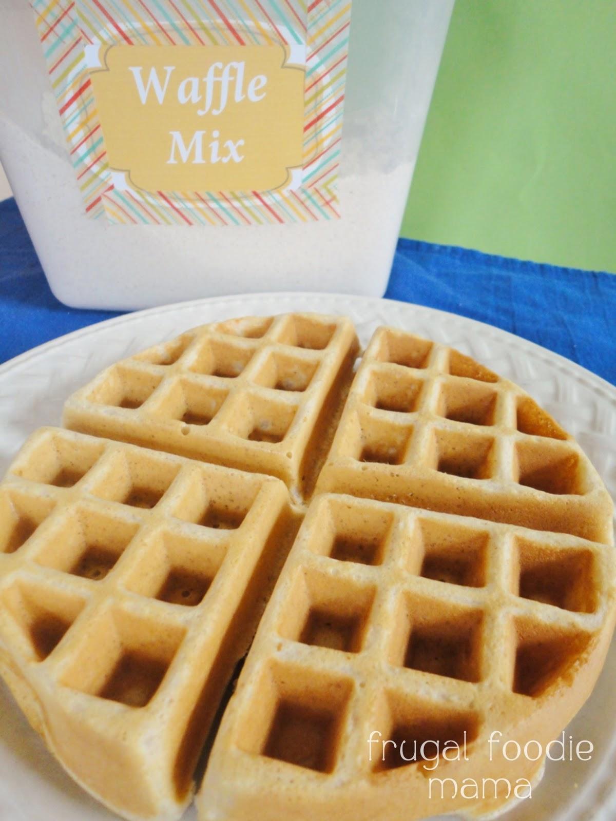 Frugal Foodie Mama: Homemade Belgian Waffle Mix