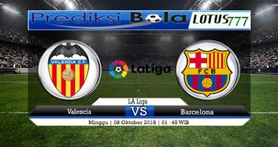 Prediksi Valencia Vs Barcelona 08 Oktober 2018