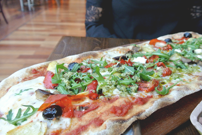 Rustica Primavera Pizza at Zizzi's Princes Square