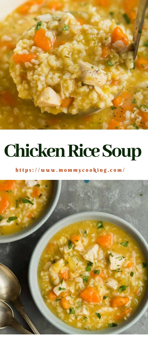 Chicken Rice Soup #dinner #creamysoup